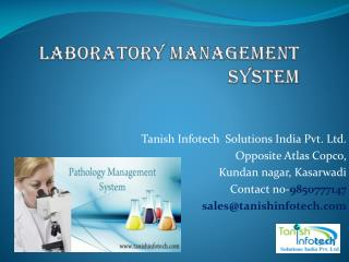 Laboratory Management System Software