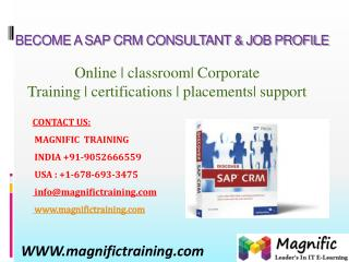 SAP CRM ONLINE TRAINING IN BANGALORE