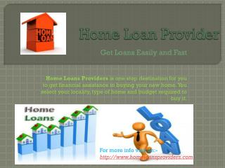 Home Loan Providers