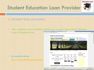 Student Education Loan Provider