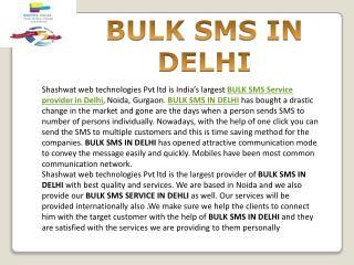 BULK SMS IN DELHI