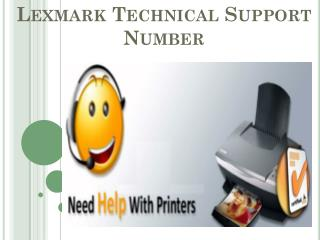 Lexmark Technical Support Number 1-800-832-1504
