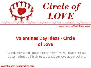 Valentines Day Ideas - Circle of Love
