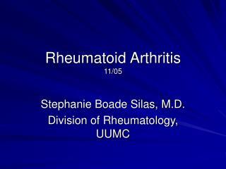 Rheumatoid Arthritis 11/05