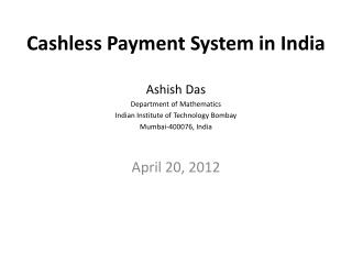 Cashless Payment System in India