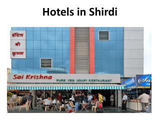 Hotels in Shirdi