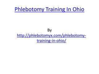 Phlebotomy Training In Ohio