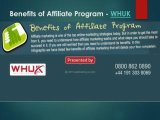 Benefits of Affiliate Program-WHUK
