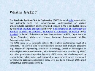 Vani Institute For Gate Coaching
