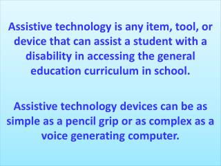 Mary Roper Assistive Technology