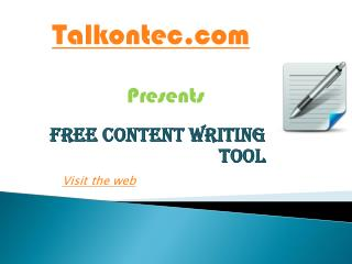 Free Genuine Article Spinners to Produce Original Articles