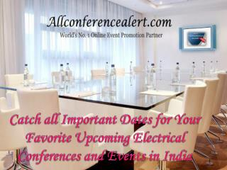 Upcoming Electrical Conferences and Events in India