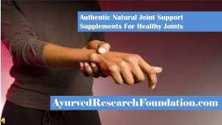 Authentic Natural Joint Support Supplements For Healthy Join