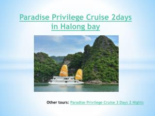 Paradise Privilege Cruise 2 Days in Halong bay