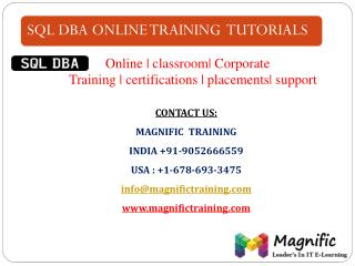 sql dba online training