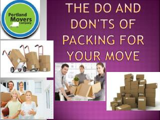 The Do and Don'ts of Packing for Your Move