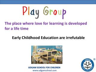 Playgroup - Udgam School for Children