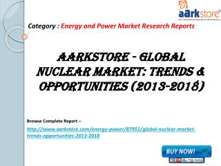 Aarkstore - Global Nuclear Market: Trends & Opportunities