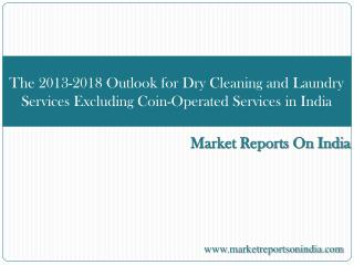 The 2013-2018 Outlook for Dry Cleaning and Laundry Services