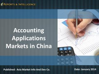 R&I:  Accounting Applications Markets in China