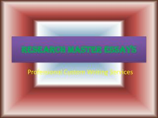 RMEssays Offers Academic Custom Writing Services