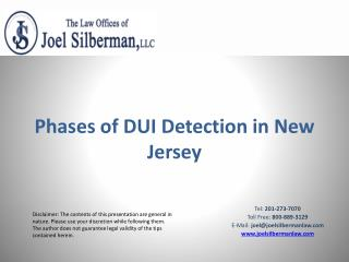 Phases of DUI Detection in New Jersey