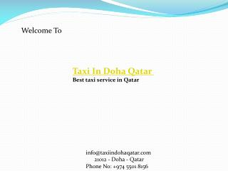 Best Taxi in Doha Qatar | Taxi Service in Doha