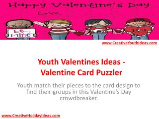 Youth Valentines Ideas - Valentine Card Puzzler