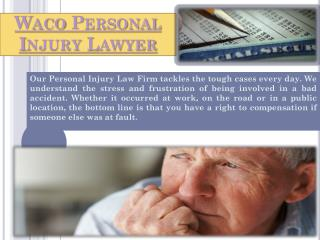 Waco Personal Injury Attorney