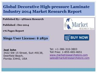 Global Decorative High-pressure Laminate Industry 2014 Marke