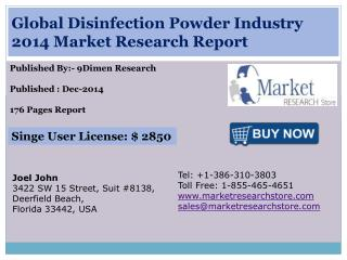 Global Disinfection Powder Industry 2014 Market Research Rep