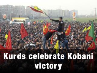 Kurds celebrate Kobani victory