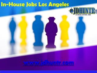 In-House Jobs Los Angeles