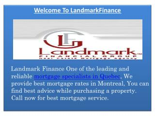 Mortgage Specialist Montreal