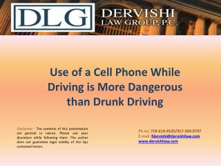 Phone While Driving is Dangerous