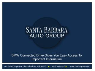 BMW Connected Drive Gives You Easy Access To Important Infor