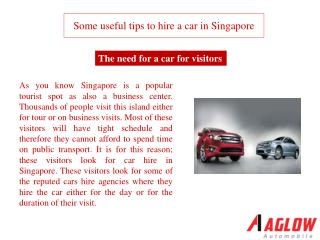Some useful tips to hire a car in Singapore