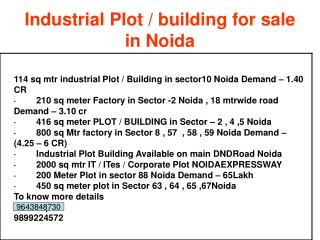 for sale Industrial Shed / Warehouse in Sector 63 Noida 9899
