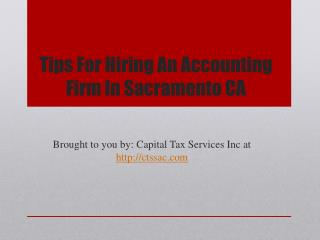 Tips For Hiring An Accounting Firm In Sacramento CA