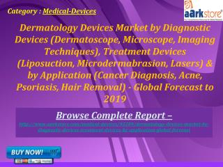 Aarkstore - Dermatology Devices Market by Diagnostic Devices