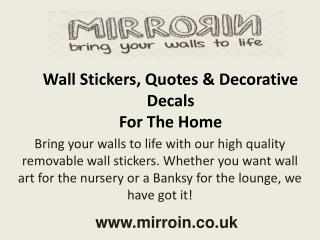 MIRRORIN - Wall Stickers, Quotes & Decorative Decals