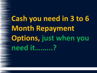 6 Month Loans With No Credit Check