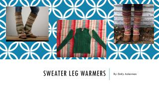 Sweater leg warmers DIY