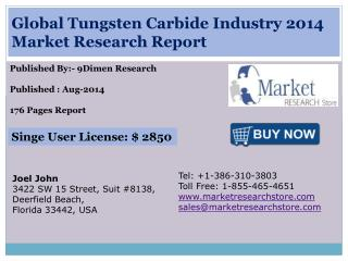 Global Tungsten Carbide Industry 2014 Market Research Report