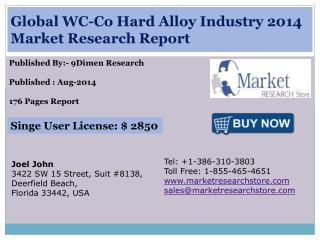 Global WC-Co Hard Alloy Industry 2014 Market Research Report