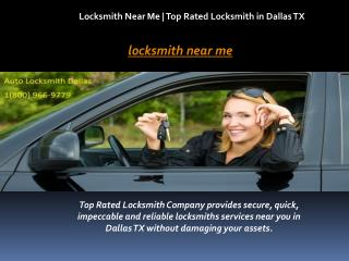Locksmith Near Me | Top Rated Locksmith in Dallas TX