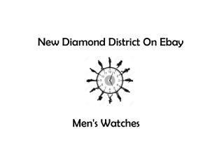 New Diamond District on Ebay - Men's Watches