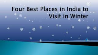 Four Best Places in India to Visit in Winter