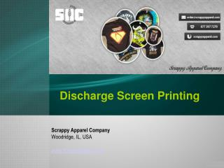 About discharge and waterbase screen printing
