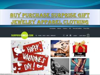 Buy purchase surprise gift jewelry apparel clothing